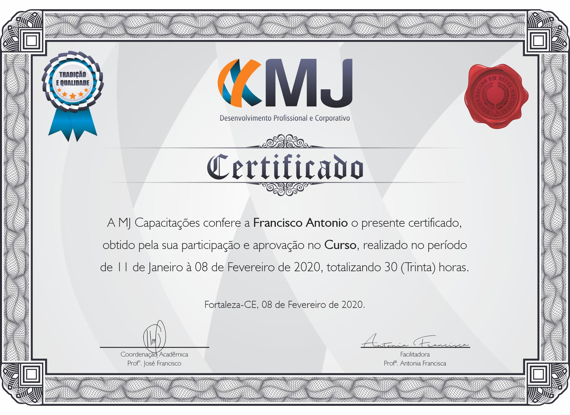 Certificado do Aluno