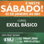 É NESTE SÁBADO, 05/01/19 – Curso Excel Básico